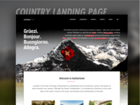 Switzerland Tourism Landing Page