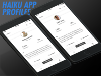 Haiku App Profile Screens