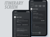 Itinerary Screen for Travel App