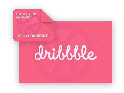 Hello Dribbble ! pink hello thank you thanks thank you shot debug shot first shot