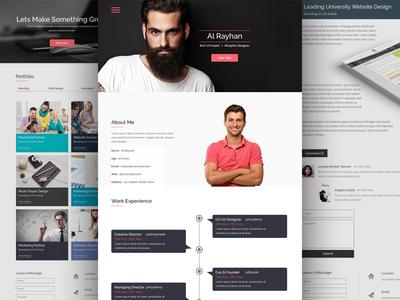 Free Personal CV/Resume Web Template ux ui web personal cv free psd template free resume cv resume