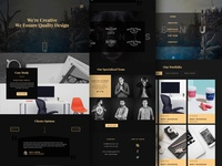 Dark Agency Multipage Web Template