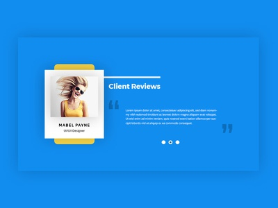 Client Review Section