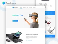 Google Daydream VR Landing Page Concept
