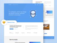 Free Portfolio Landing Page