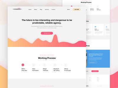 Agency Landing Page - Concept developer design agency website web ux ui services landing page clean