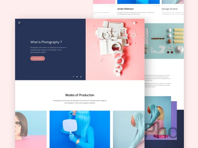 Photography is Creative Art dslr best shot landing page colorful clean minimal ux ui design creative photography