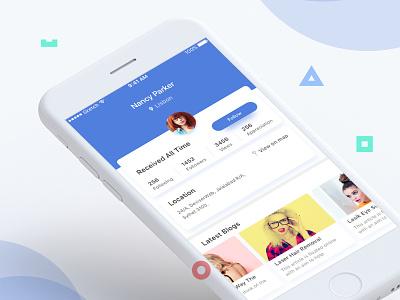 User Profile Exploration UI color app app ui minimal clean profile user profile ios ux ui mobile