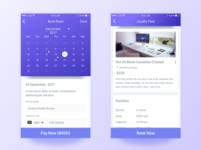 Meeting Room Booking App UI home template locality new product meeting room booking screen illustration dribbble best shot creative app design app