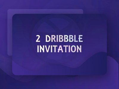 2X Dribbble Invitation! best shot unique color visual shot opportunity invite invitation dribbble