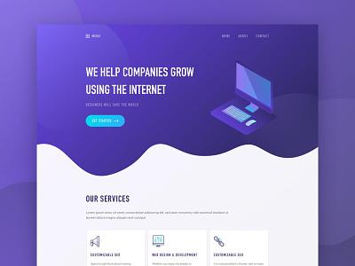 Landing Page | Exploration service corporate creative agency business color ux ui best shot 2018