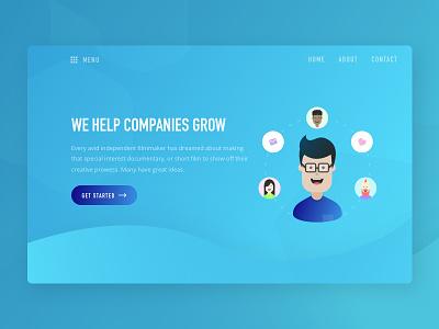 Visual Exploration clean agency web dribbble best shot ux ui blue header exploration visual