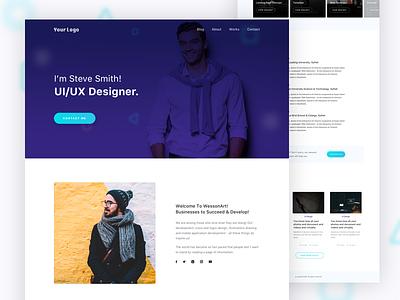 Personal Resume Landing Page best shot ux ui designer site personal web landing page cv resume