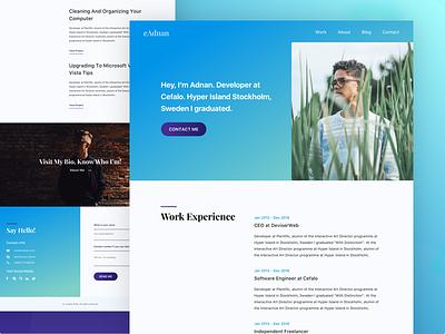 Personal Resume Exploration best shot ux ui designer site personal web landing page cv resume