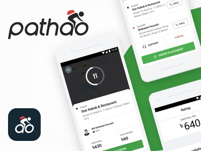 Redesigned Food Delivery Flow For Pathao Drive fooddelivery ridesharing app illustration product ux ui delivery food foodapp pathaodrive pathao