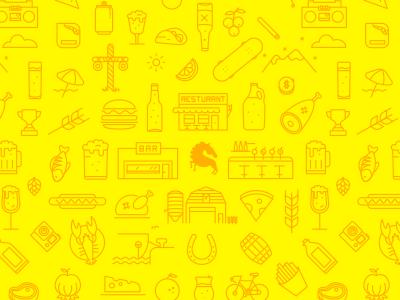 Summer beer pattern  beer branding icons pattern rebound