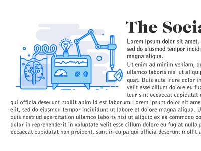 The Social Lab Blue innovation creative illustration lab