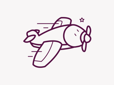 Airline Icon #5 kids plane airline