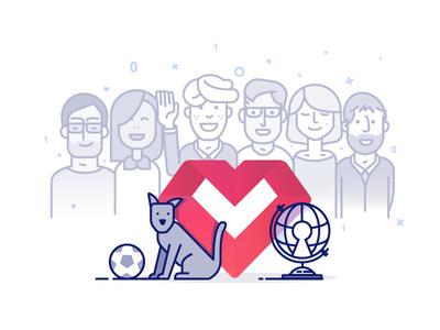Team WIP.  people dog non profit team