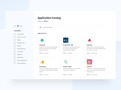 Application Catalog torii tools ui sketch catalog applications web saas apps