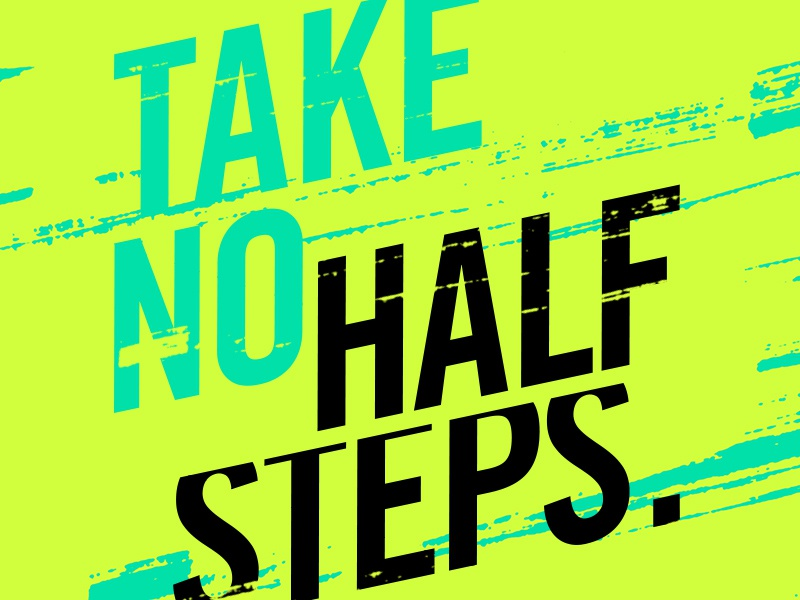 Halfsteps type typography trade gothic fitness inspiration neon running sports