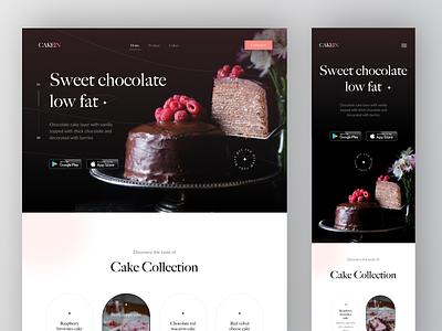 CAKEIN - Responsive Mobile Exploration app white classic design cake cake shop ui responsive design clean black cake website classic responsive design responsive mobile cake responsive web red responsive ui web ux ui