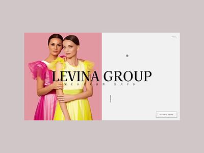 Levina Group / Landing page design minimal interaction web design web landing page website