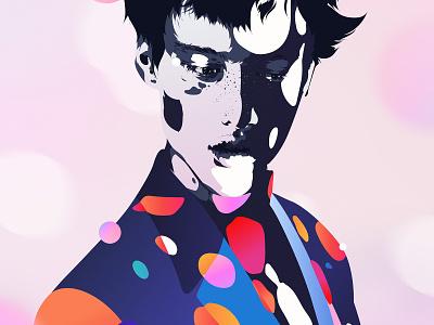 583 palette color music vector portrait illustrator digital art adobe illustration colour