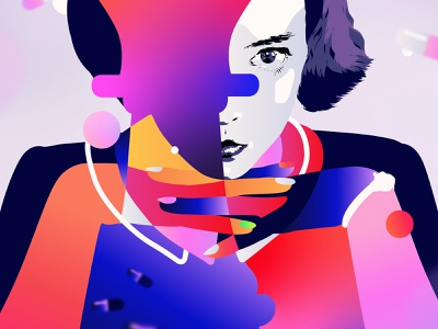 Queen's Gambit color colour palette abstract adobe netflix portrait palette vector illustrator digital art illustration