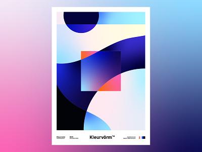 Kleurvorm 004 poster vector abstract color branding colour palette illustration digital art graphic design colour palette