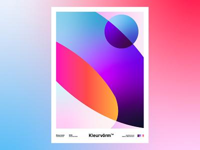 Kleurvorm 006 poster a day poster design print abstract colour palette graphic design branding poster colour palette vector digital art