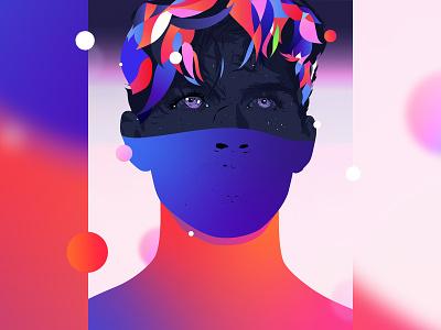MX adobe print palette poster graphic design vector abstract portrait illustrator digital art illustration