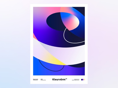 Kleurvorm 010 branding poster abstract design colour palette vector digital art colour illustration palette