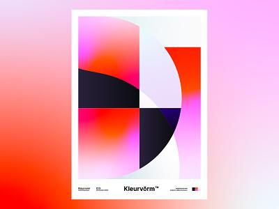 Kleurvorm 013 graphic design print branding colour palette poster vector abstract digital art palette illustration