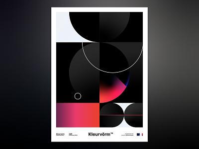 Kleurvorm 009 vector print branding colour palette poster abstract digital art graphic design palette illustration
