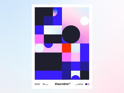 Kleurvorm 015 print branding colour palette poster abstract vector digital art graphic design colour illustration