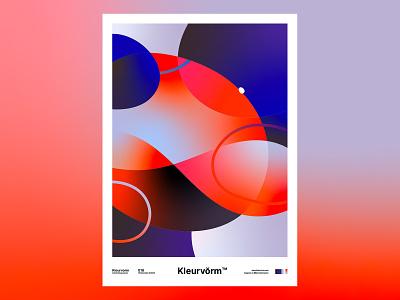 Kleurvorm 018 print illustrator colour palette abstract poster vector graphic design colour palette illustration