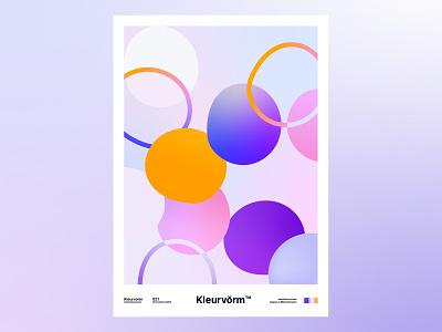 Kleurvorm 021 branding colour palette palette print poster abstract digital art vector graphic design illustration