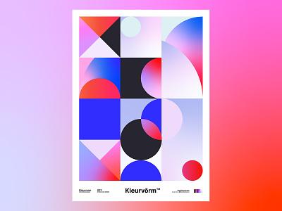 Kleurvorm 022 vector colour palette print poster abstract digital art color palette graphic design illustration