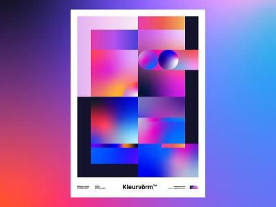 Kleurvorm 028 branding digital art vector illustrator print poster abstract graphic design palette illustration