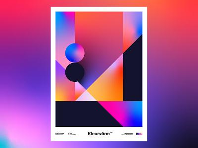 Kleurvorm 030 design branding abstract palette print poster vector digital art graphic design illustration