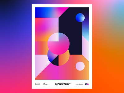 Kleurvorm 030 colour palette vector adobe poster print design graphic design digital art abstract illustration