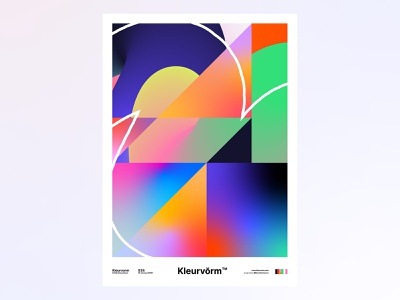 Kleurvorm 035 colour palette colour print digital art vector design poster abstract graphic design illustration