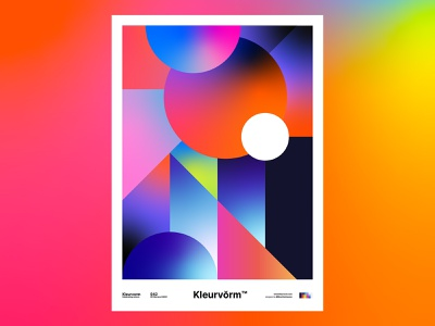 Kleurvorm 042 photoshop gradient visual art poster design branding design color illustrator vector poster print illustration abstract digital art