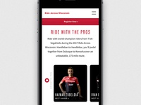 Ride Across Wisconsin Mobile Landing Page WIP