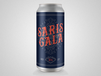 Custom Saris Gala Event Crowler Beer Can