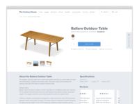 Furniture Ecommerce Detail Page