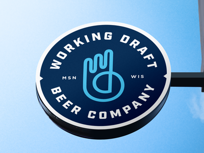 Working Draft Beer Company Logo Sign