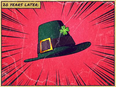 3 Wishes - Leprechaun's Hat irish leprechaun illustrator design wish magic illustration comics blender card