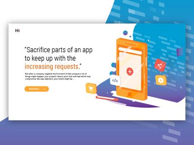 Mobile Article Illustration